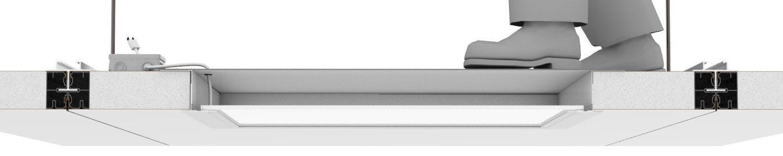 """LED per Controsoffitti Pharma – ALTO CARICO """"HLFC"""" applicazione lato CLEAN ROOM"""