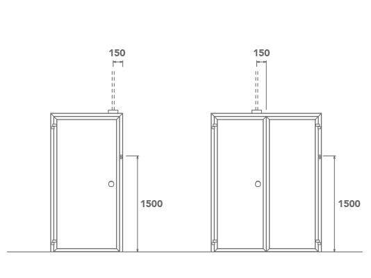 Predisposizione interblocco su parete mobile